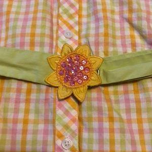 Gymboree Dresses - Gymboree Plaid Button-Down Dress